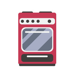 Electric stove in flat style vector