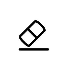 eraser rubber icon vector image