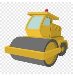 Excavator cartoon icon vector