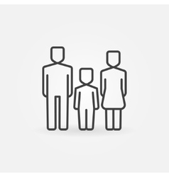 Family line icon vector