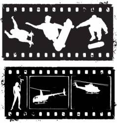 Film strip grunge vector
