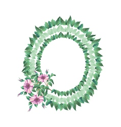 Frame from abstract flowers and leaves vector image