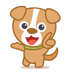 funny dog cartoon art vector image
