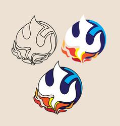 global holyspirit fire logo vector image