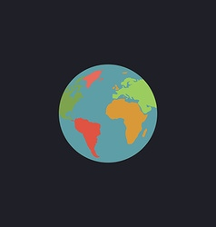 Globe earth computer symbol vector