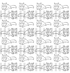 Gray background with cats vector