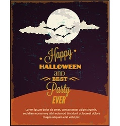 Halloween with moon and clouds vector