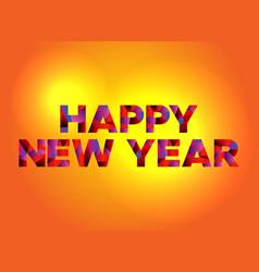 happy new year theme word art vector image