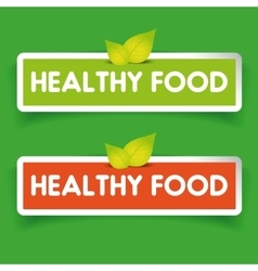 Healthy food label set vector image