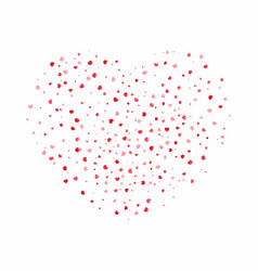 heart background for valentines day red and pink vector image