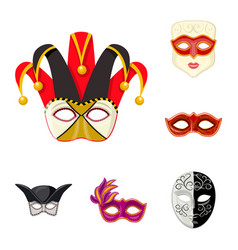 Isolated object of carnival and theatrical icon vector