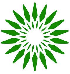 Leaf plant icon circular geometric motif with vector