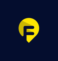 letter f point location creative modern logo vector image