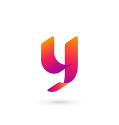 letter y logo icon design template elements vector image