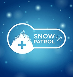 logotype snow patrol on blue background vector image