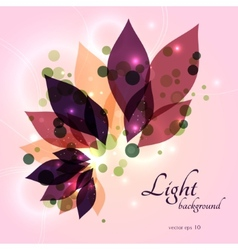Magical glowing floral background vector