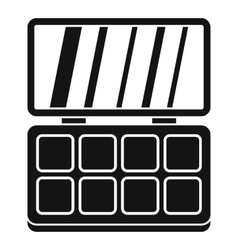 Makeup palette icon simple style vector