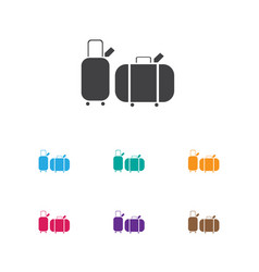 of trip symbol on trip icon vector image