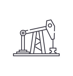 oil rig line icon concept oil rig linear vector image