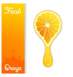 Orange crush juice vector