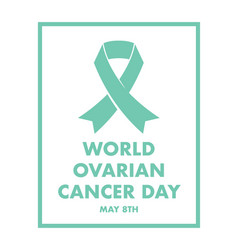 ovarian cancer awareness vector image