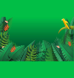 paradise rainforest concept banner cartoon style vector image