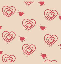 pattern decorative love background vector image