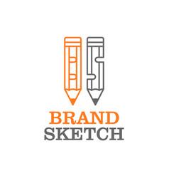 Pencil logo for education - pen education logo vector