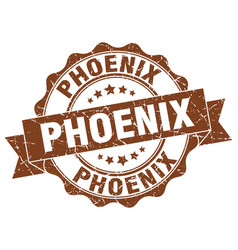 Phoenix round ribbon seal vector