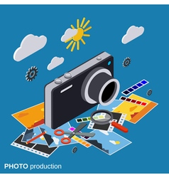 Photo production montage editing vector