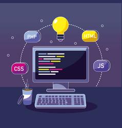 program coding concept vector image