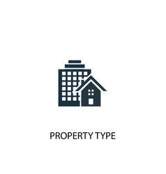 property type icon simple element vector image