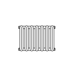 radiator icon black on white vector image