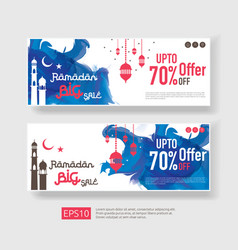 Ramadan kareem sale offer banner design vector