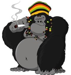 rastafarian monkey vector image