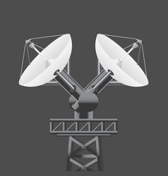 Realistic 3d satellite dish isolated vector