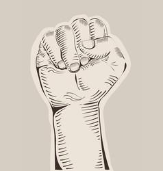 Riasing fist vector