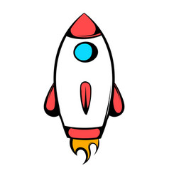 Rocket icon icon cartoon vector
