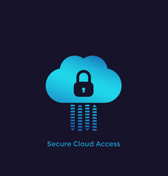 Secure cloud access protected hosting icon vector