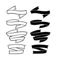 Set graphic ribbons vector