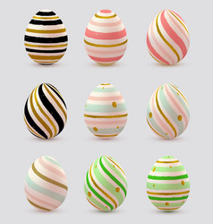 Set of decorative easter eggs vector