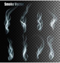 Set Of Transparent Different Smoke vector