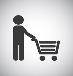 shopping graphic vector image