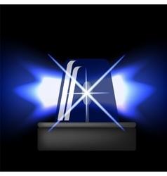 Siren Icon Blue Emergency Flash Car Alarm vector