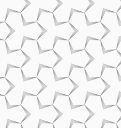Slim gray pointy tetrapods with striped bevel vector