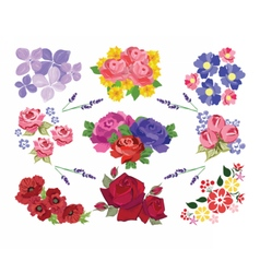 Spring Summer floral set vector