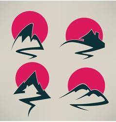 Sunrise in mountain vector