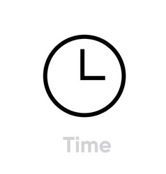 time icon editable outline vector image
