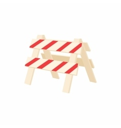 Traffic barrier icon cartoon style vector image