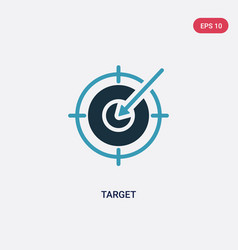 two color target icon from strategy concept vector image